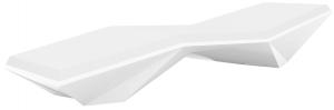 Шезлонг Faz Sun Chaise 204X70X42 CM белого цвета