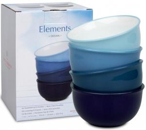 Набор 4-х чаш Elements Ocean 14X14X7 CM