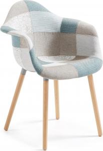 Кресло Kenna Patchwork светло голубое