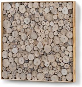 Декоративное панно из тропического дерева Jimmy 49X49 CM