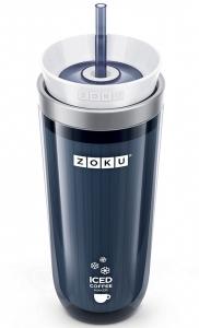Стакан для охлаждения напитков Iced coffee maker 325 ml серый