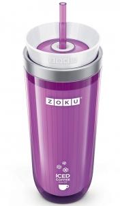 Стакан для охлаждения напитков Iced coffee maker 325 ml фиолетовый