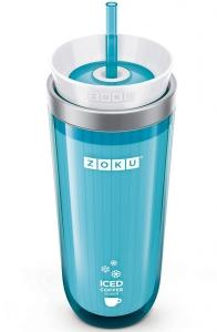 Стакан для охлаждения напитков Iced coffee maker 325 ml голубой