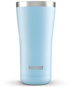 Термокружка zoku 550 ml голубая