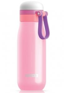 Бутылка вакуумная из нержавеющей стали 500 ml розовая