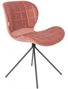 Стул OMG Velvet 51X56X80 CM тёмно-розовый